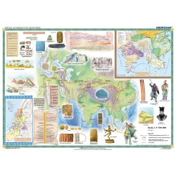 Starożytny Wschód-kultura 150x110cm. Mapa ścienna.