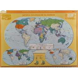 Świat/Imperia kolonialne na Świecie 160x120cm. Mapa ścienna dwustronna.