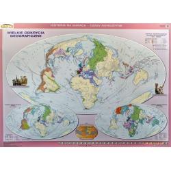 Świat/Wielkie Odkrycia Geograficzne 160x120cm. Mapa ścienna dwustronna.