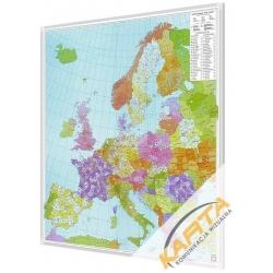 Europa Kodowa 96x114cm. Mapa do wpinania.