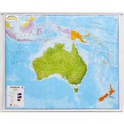 Australia Polityczna 125x100cm. Mapa ścienna.