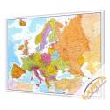 Europa Polityczno-Drogowa 142x100 cm. Mapa do wpinania.