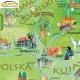 Polska młodego odkrywcy dla dzieci 105x68cm. Mapa do wpinania