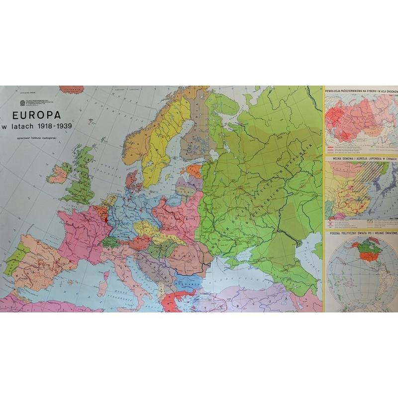 Mapa Scienna Europa W Latach 1918 1939 1 4mln 178x120cm Nowa Era