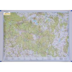Karkonosze Polskie i Czeskie, Rudawy Janowickie 154x110cm. Mapa ścienna.
