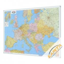 Europa Polityczno-Drogowa 170x122 cm. Mapa do wpinania.