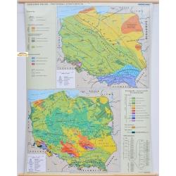 Polska Geologia-Tektonika i stratygrafia 122x156cm. Mapa ścienna.