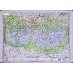 Tatry Polskie i Słowackie 154x110cm. Mapa ścienna.