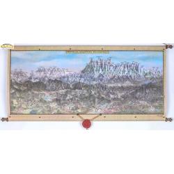 Małopolska Południowa i Tatry - Panorama 104x46cm. Mapa ścienna.