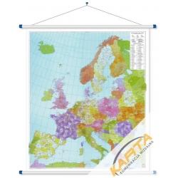 Europa Kodowa 95x112 cm. Mapa ścienna.