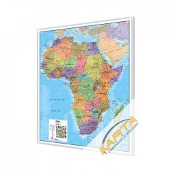 Afryka Polityczna 106x120cm. Mapa w ramie aluminiowej.