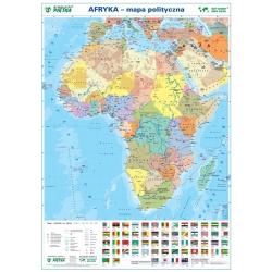 Afryka polityczna 104x138 cm. Mapa w ramie aluminiowej.