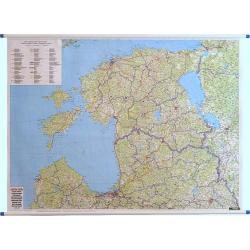 Kraje bałtyckie 1:400 tys F&B Litwa,Lotwa,Estonia. drogowa 130x98 cm