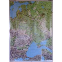 Europa Wsch. Pol-drog 94x123cm. Mapa ścienna