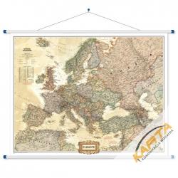Europa Polityczna Brąz 123x90cm. Mapa ścienna