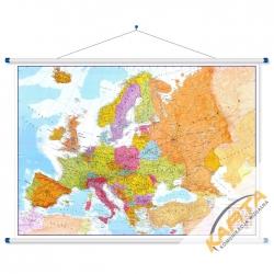 Europa polityczno-drogowa 170x120cm. Mapa ścienna.