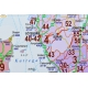 Europa środkowa kodowa 148x192cm. Mapa do wpinania.