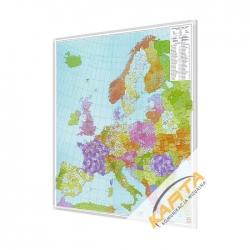 Europa Kodowa 96x114cm. Mapa w ramie aluminiowej.