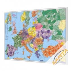 Europa Kodowa 140x100cm. Mapa w ramie aluminiowej.