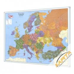 Europa Kodowa 134x100cm. Mapa w ramie aluminiowej.