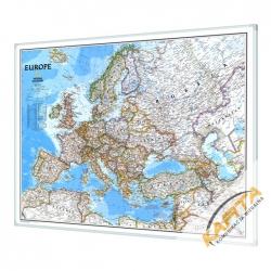Europa Polityczna 123x90cm. Mapa w ramie aluminiowej.