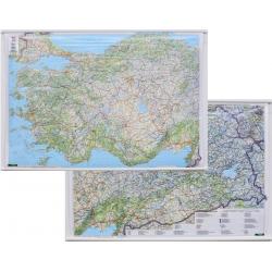 M-DR Turcja dwustronna drogowa F&B Mapa scienna 1:800 tys 115x90