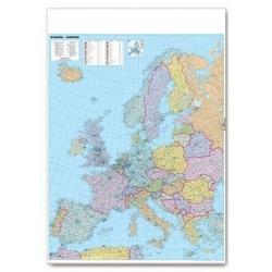 Europa polityczno-drogowa 105x130cm. Mapa ścienna.