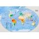 Świat Fizyczny 176x122 cm. Mapa magnetyczna.