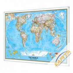 Świat Polityczny 111x77cm. Mapa do wpinania.