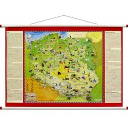 Polska Młodego Odkrywcy dla dzieci 105x68cm. Mapa ścienna.