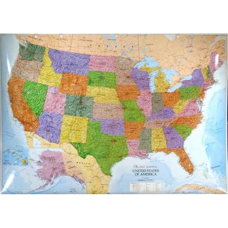 Mapa Scienna Stany Zjednoczone Usa 1 3 5 Ml Wym 140x102cm Glmapping