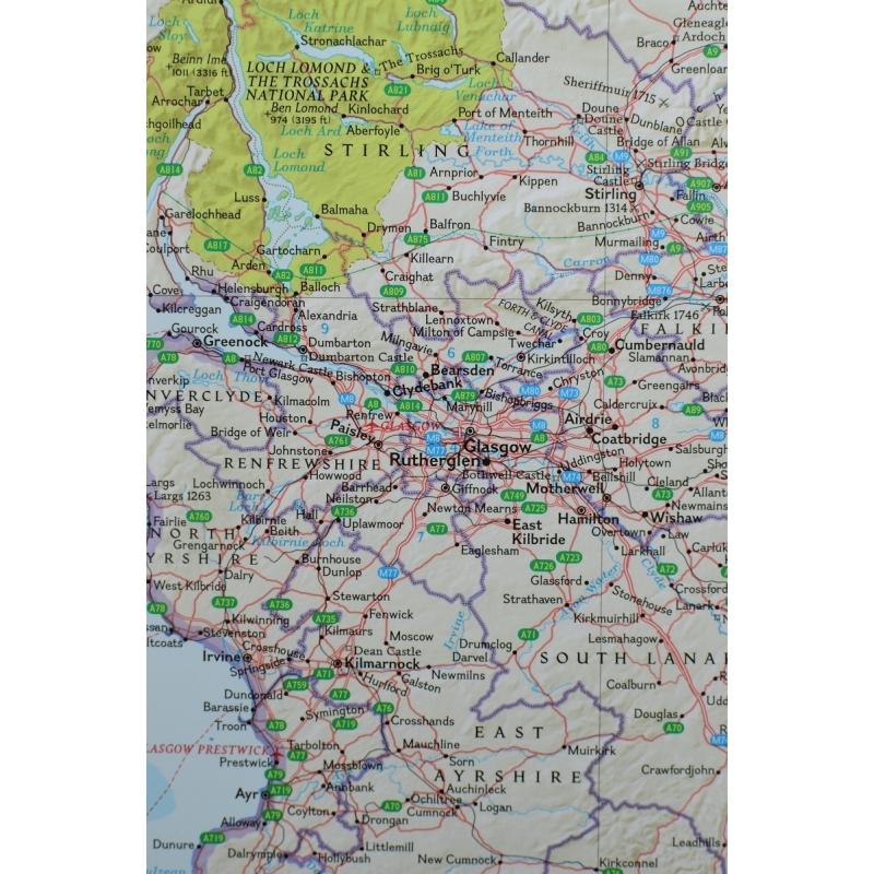 Mapa magnetyczna Szkocja 1:650 tys. 81x92 cm. NG