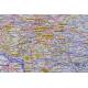 Polska Adm-drog. 120x110cm. Mapa w ramie ALU