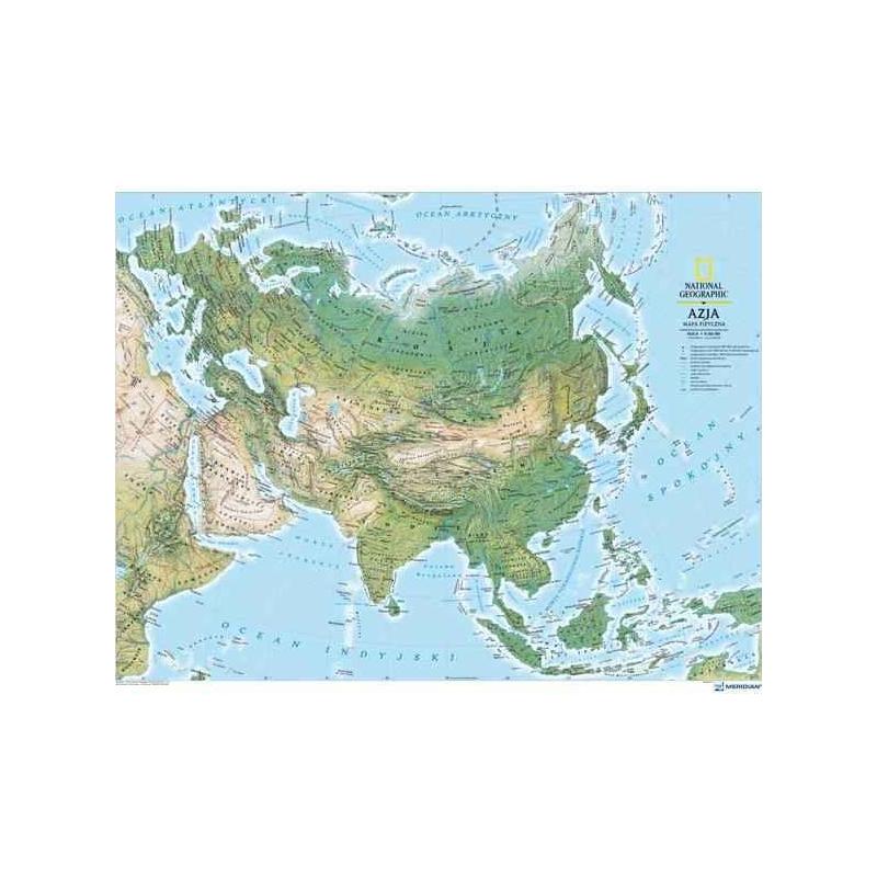 Mapa ścienna Eurazjaeuropa I Azja Fizyczna 192 Mln 155x115cm Ng
