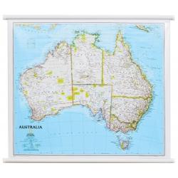 Australia 84x60cm. Mapa scienna