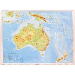 Australia Fizyczna 150x115cm. Mapa ścienna