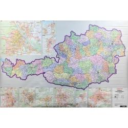 Austria kodowa 125x87cm. Mapa ścienna 125x87cm