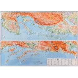 Chorwacja.Dalmacja i Istria 1:250ty Mapa scienna fizy-drogowa Giz Map 130x90