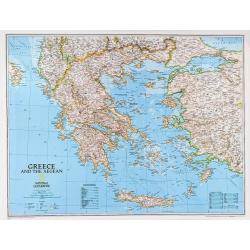 M-DR Grecja oraz poł. Albania Macedonia Mapa scienna 1:14 mln NG 82x60
