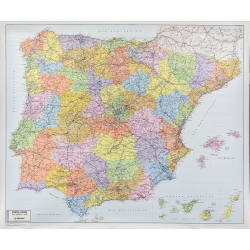 Hiszpania i Portugalia kodowa 110x90cm. Mapa ścienna.
