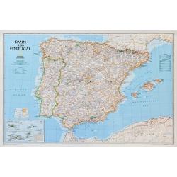 Hiszpania i Portugalia 88x55 cm. Mapa ścienna.