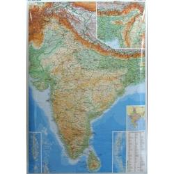 Indie fizycz-drogowa 1:3 mln GiziMap |Mapa ściennea 94x126 cm
