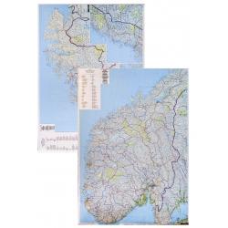 Norwegia adm-drog. 1:600tys F&B Mapa scienna 95x125cm
