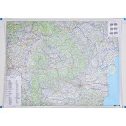 Rumunia,Mołdawia Drog.125x95cm. Mapa ścienna