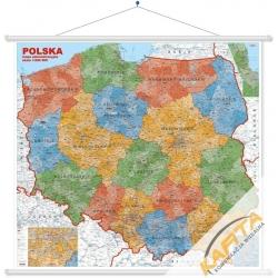 Polska Administra 1:600 tys. 120x110cm ścienna