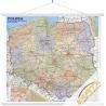 Polska administracyjno-drogowa 120x112 cm. Mapa ścienna.