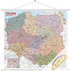 M-DR Polska Kodowa 1:500 tys. Jokart Mapa ścienna 144x134cm