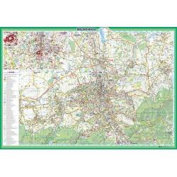 Bielsko-Biała plan miasta 103x70cm. Mapa ścienna.