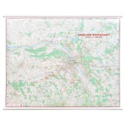 M-DR Okolice Warszawy 1:100 tys. Jokart Mapa ścienna 124x95cm