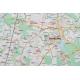 Okolice Warszawy 124x95 cm. Mapa w ramie aluminiowej.